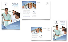 Nursing School Hospital - Postcard Template Design Sample