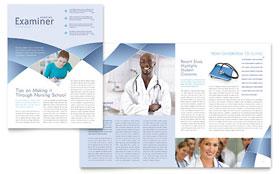 Nursing School Hospital - Newsletter Sample Template