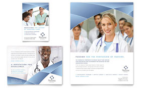 Nursing School Hospital - Leaflet Sample Template