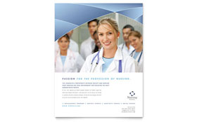 Nursing School Hospital - Flyer Template