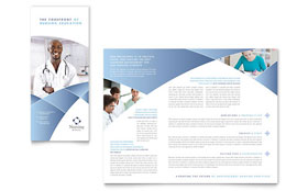 Nursing School Hospital - Apple iWork Pages Tri Fold Brochure Template