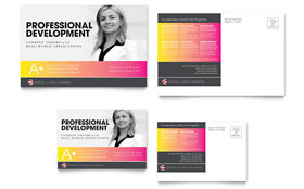 Adult Education & Business School - Postcard Template