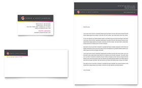 Adult Education & Business School - Business Card & Letterhead Template Design Sample