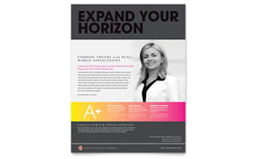Adult Education & Business School - Flyer