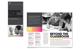 Adult Education & Business School - Microsoft Word Tri Fold Brochure Template