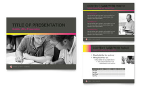 Adult Education & Business School - PowerPoint Presentation Template Design Sample