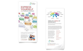 Language Learning - Rack Card Template Design Sample