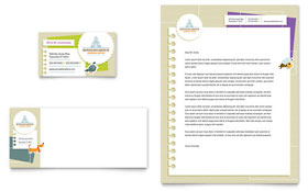 Kindergarten - Business Card & Letterhead Template Design Sample