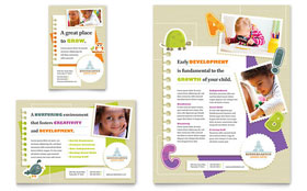 Kindergarten - Flyer & Ad Template Design Sample