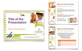 Kindergarten - PowerPoint Presentation Template Design Sample