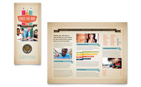 Tutoring School - Tri Fold Brochure Template Design Sample