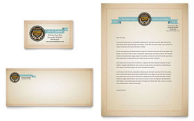 Tutoring School - Business Card & Letterhead Template Design Sample
