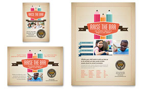 Tutoring School - Leaflet Template Design Sample