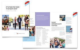 Community College - Graphic Design Brochure Template