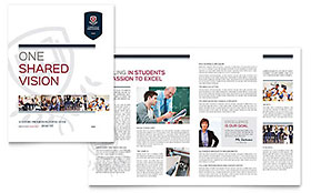 High School - Apple iWork Pages Brochure Template
