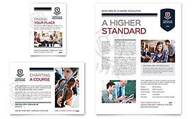 High School - Print Ad Sample Template