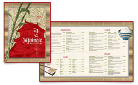 Japanese Restaurant - Menu Template Design Sample