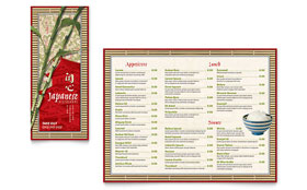 Japanese Restaurant - Take-out Brochure Template Design Sample