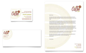Coffee Shop - Letterhead Sample Template