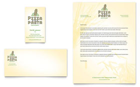 Italian Pasta Restaurant - Business Card & Letterhead Template