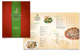 Italian Pasta Restaurant - Menu Template Design Sample
