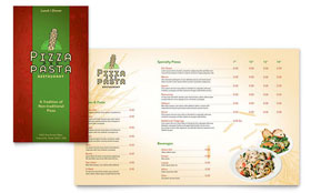 Italian Pasta Restaurant - Take-out Brochure Template