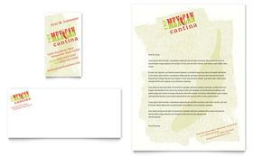 Mexican Restaurant - Business Card & Letterhead Template