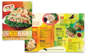 Mexican Restaurant - Menu Sample Template