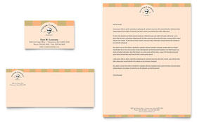 Catering Company - Business Card & Letterhead Template Design Sample