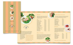 Catering Company - Take-out Brochure Template Design Sample