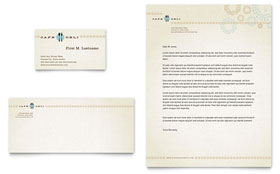 Cafe Deli - Business Card & Letterhead Template Design Sample