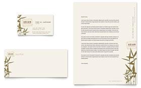 Asian Restaurant - Business Card & Letterhead Template