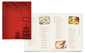 Asian Restaurant - Business Marketing Menu Template