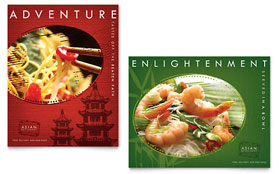 Asian Restaurant - Poster Template Design Sample