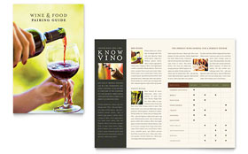 Vineyard & Winery - Brochure Template Design Sample