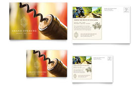Vineyard & Winery - Postcard Template Design Sample