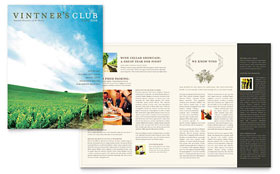 Vineyard & Winery - Newsletter Template Design Sample