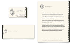 Vineyard & Winery - Business Card & Letterhead Template Design Sample