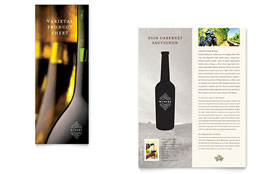 Vineyard & Winery - Datasheet Sample Template