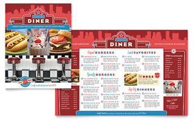 American Diner Restaurant - Microsoft Publisher Menu Template