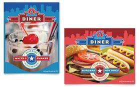 American Diner Restaurant - Poster Template
