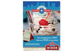 American Diner Restaurant - Leaflet Template