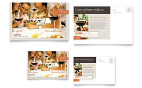 Bistro & Bar - Postcard Sample Template