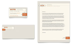 Bistro & Bar - Business Card & Letterhead Template Design Sample