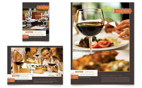 Bistro & Bar - Flyer & Ad Template Design Sample