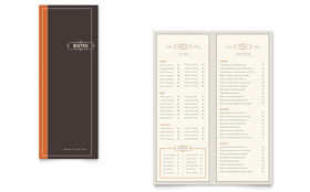 Bistro & Bar - Take-out Brochure Template Design Sample
