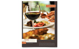 Bistro & Bar - Flyer Template Design Sample