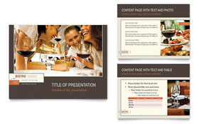 Bistro & Bar - PowerPoint Presentation Template Design Sample
