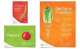 Nutritionist & Dietitian - Flyer & Ad Template Design Sample