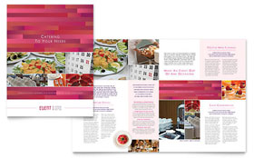 Corporate Event Planner & Caterer - Apple iWork Pages Brochure Template